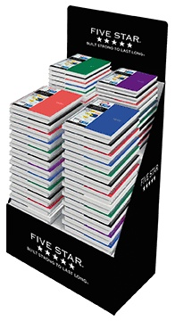 "Five Star® Traditional Five Subject Notebooks; 11"" x 8-1/2""; College Ruled, 200 Sheets"