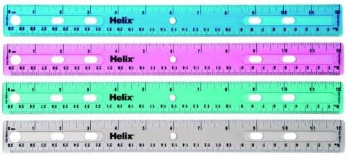 """Helix 12"""" Plastic Ruler"""