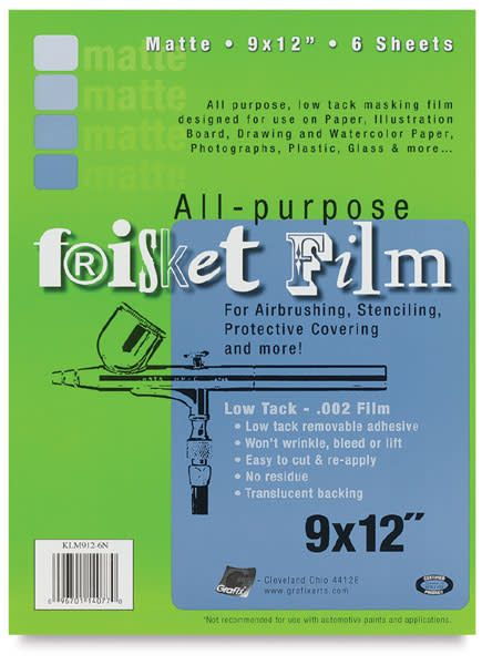 "GRAFIX ALL-PURPOSE FRISKET FILM, 12"" X 4 YDS"
