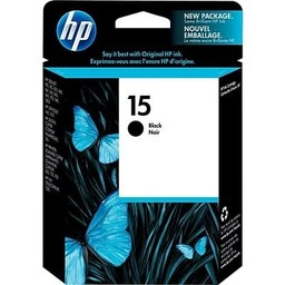 HP 15 Ink Cartridge, Black