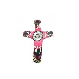 Pocket Cross, Pink Flower