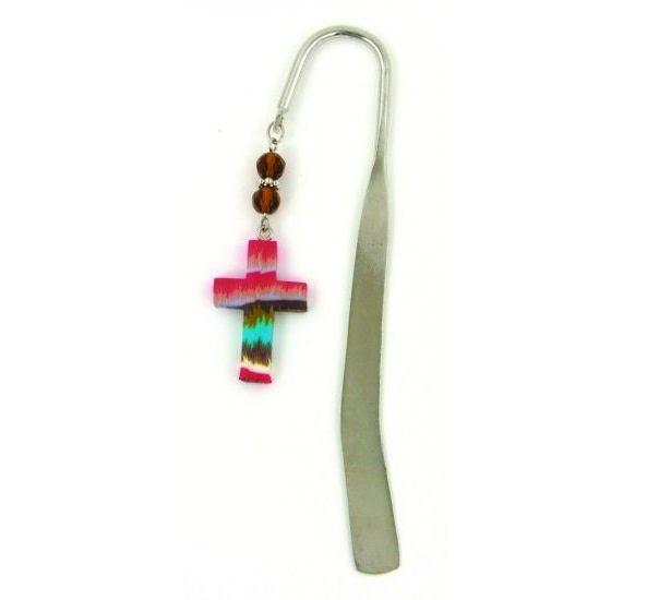 Cross Bookmark, Tie Dye