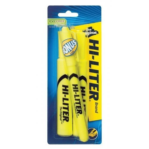 Avery Hi-Liter Chisel 2pk w/Bonus, Yellow