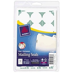 Avery Mailing Seals, 480ct
