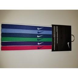 Nike Printed Headbands, 6ct,  Deep Royal/Chalk Blue/Deep Royal