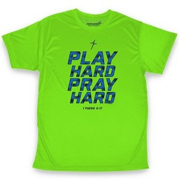 Play Hard Pray Hard Active Adult T-Shirt