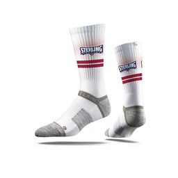 Strideline Premium Crew Socks, White