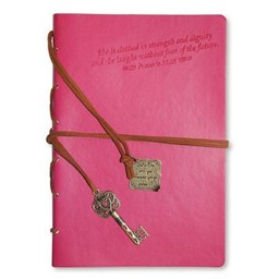 Journal: Proverbs 31 with Key Charm, Pink