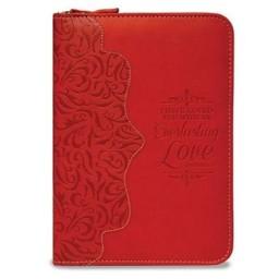 Zippered Journal: Red Everlasting Love