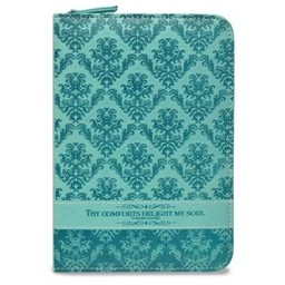 Zippered Journal: Teal Green Thy Comforts