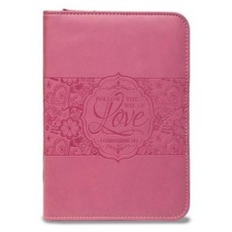 Zippered Journal: Rose Pink The Way of Love