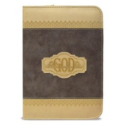 Zippered Journal: Brown God Gives Wisdom