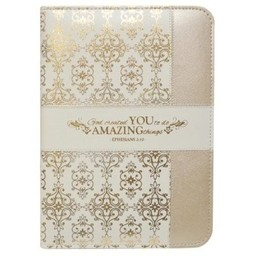 Zippered Journal: Cream and Gold Amazing You