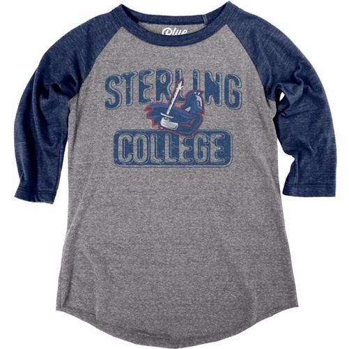 Blue 84 Youth Tri-Blend Baseball Tee, Heather/Navy