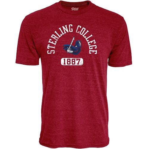 Blue 84 Tri-Blend T-Shirt, Cardinal Red