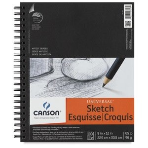 "Canson Universal Sketch Pad, 12"" x 9"""