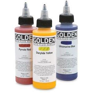 Golden Matte Fluid Acrylic, Hansa Yellow Opaque