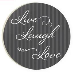 Car Coaster-Live Laugh Love