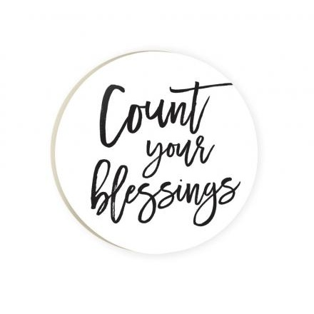 Car Coaster-Count Your Blessings