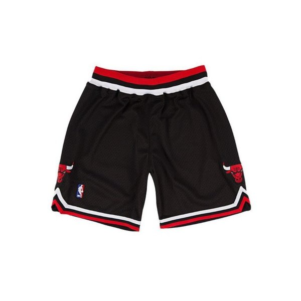 MITCHELL & NESS CHICAGO BULLS BLACK AUTHENTIC SHORTS