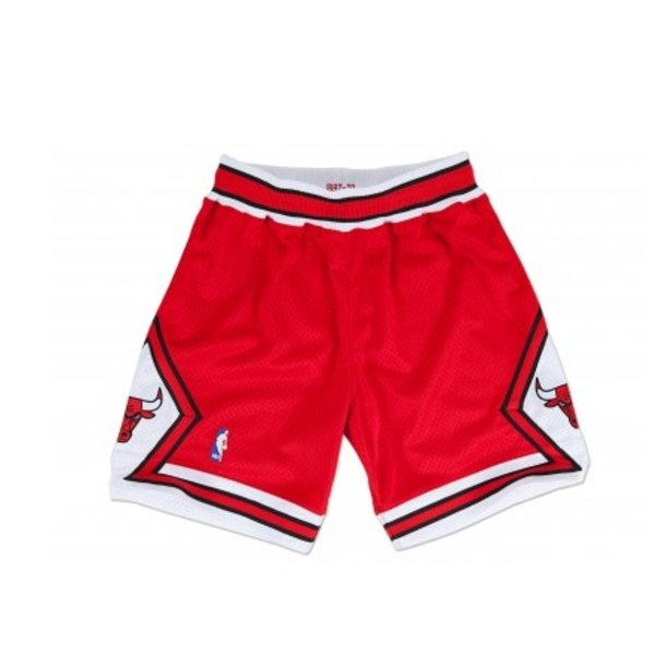 MITCHELL & NESS CHICAGO BULLS RED AUTHENTIC NBA SHORTS