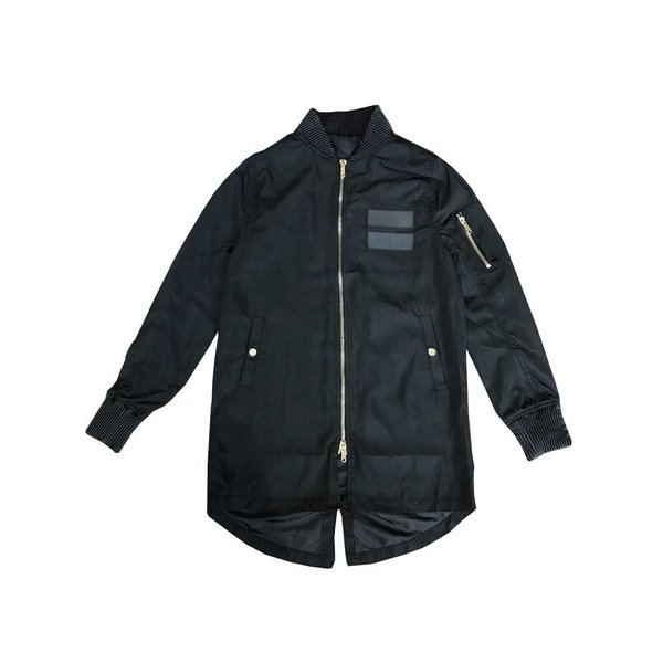 PEACE UNLIMITED FISHTAIL BOMBER - BLK