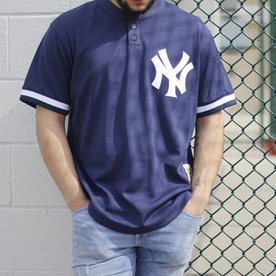 MITCHELL & NESS YANKEE MESH BUTTON UP JERSEY
