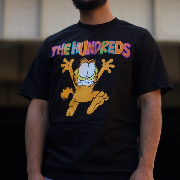 THE HUNDREDS GARFIELD RUN T-SHIRT - BLK