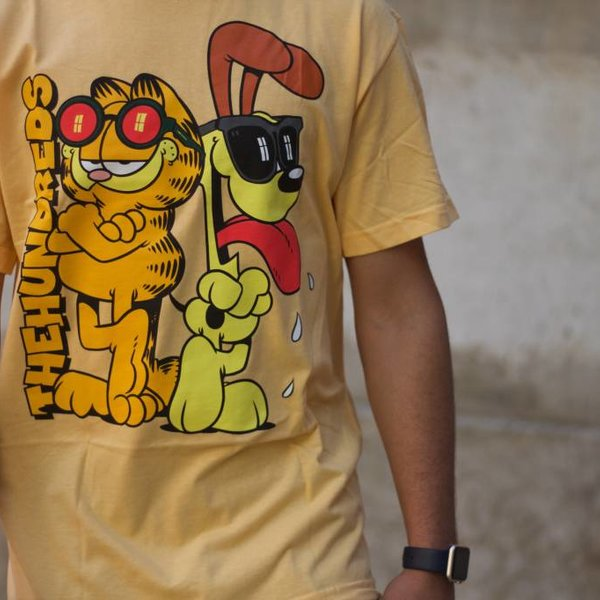 THE HUNDREDS GARFIELD ODIE T-SHIRT - SQUASH
