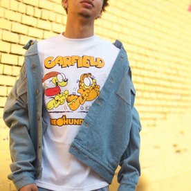 THE HUNDREDS GARFIELD CHASE T-SHIRT - WHITE