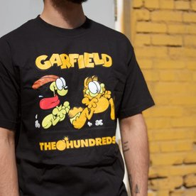 THE HUNDREDS GARFIELD CHASE T-SHIRT - BLK