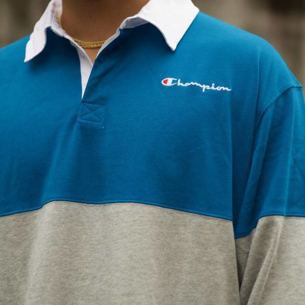 """CHAMPION COLORBLOCK RUGBY """"DEEP HOTLINE"""""""