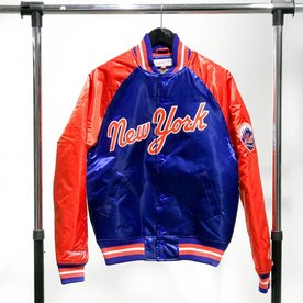 MITCHELL & NESS M&N SATIN JACKET - METS