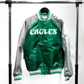 MITCHELL & NESS M&N SATIN JACKET - EAGLES