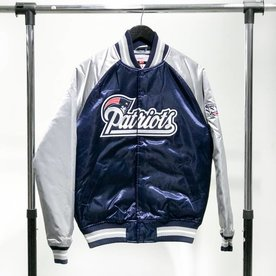 MITCHELL & NESS M&N SATIN JACKET - PATRIOTS