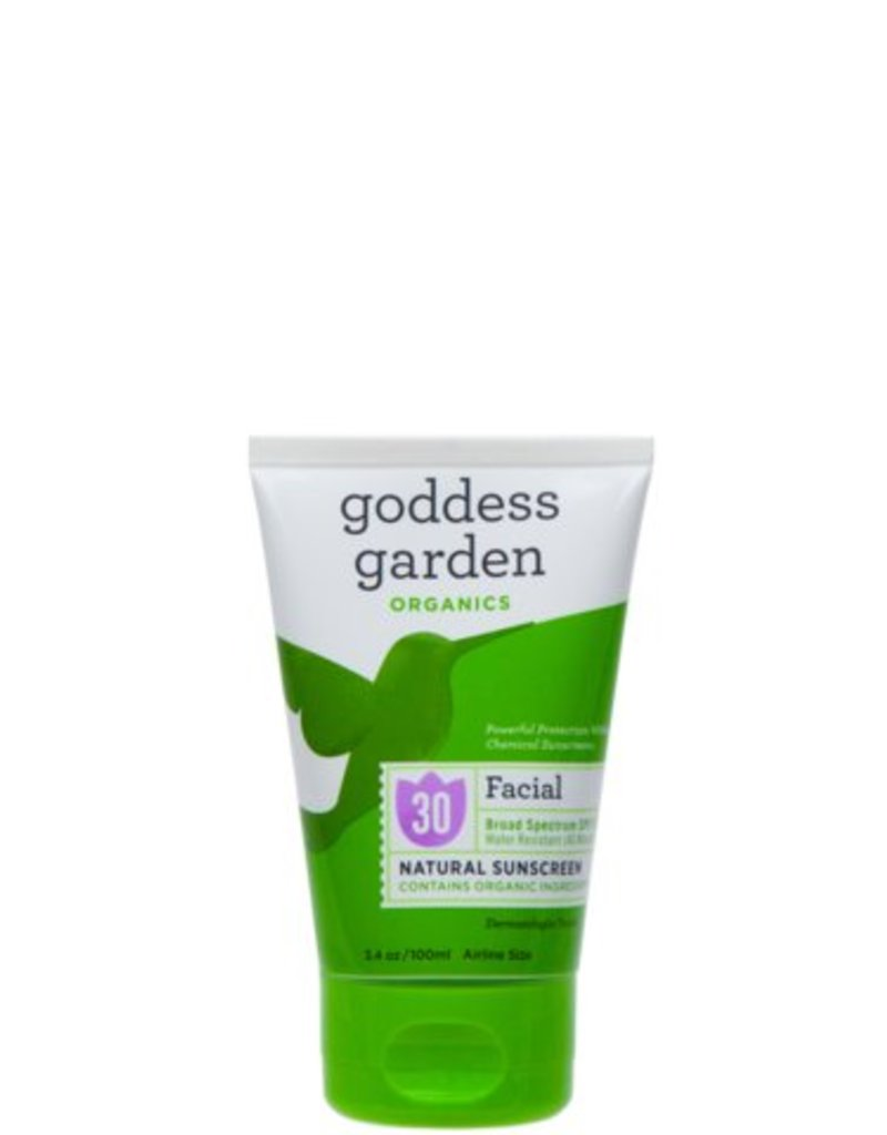 Goddess Garden Goddess Garden Natural Sunscreen 30 spf  Facial Cream 3.4 oz.