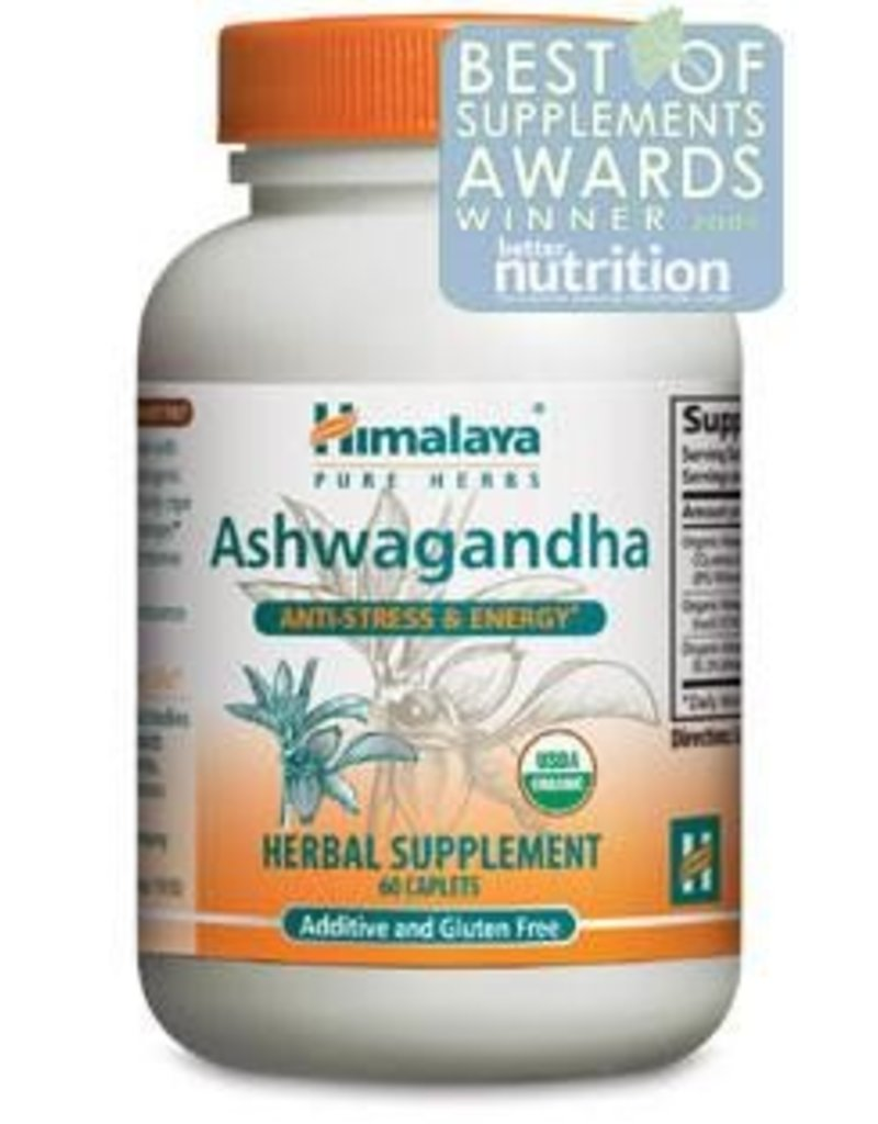 Himalaya Himalaya Pure Herbs - Ashwagandha Herbal Supplement - 60 Vegetarian Capsules