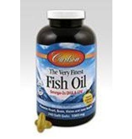 Carlson Carlson Very Finest Fish Oil Omega 3s DHA & EPA Dietary Supplement - Lemon