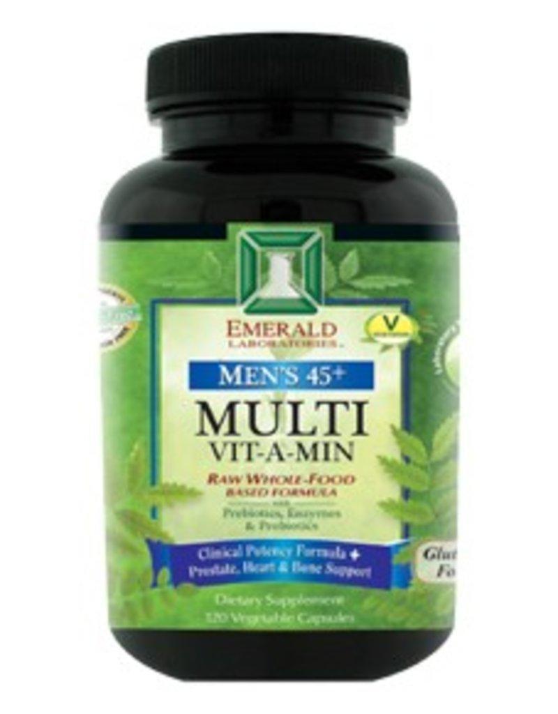 Emerald Laboratories - CoEnzymated Men's 45+ Multi Vitamin 4 A Day - 120 Vegetable Capsules