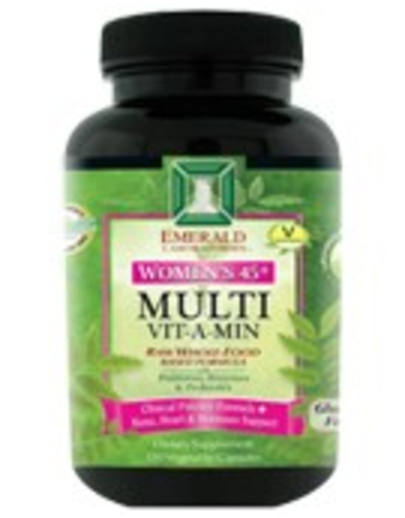 Emerald Laboratories - CoEnzymated Women's 45+ Multi Vitamin 4 A Day - 120 Vegetable Capsules