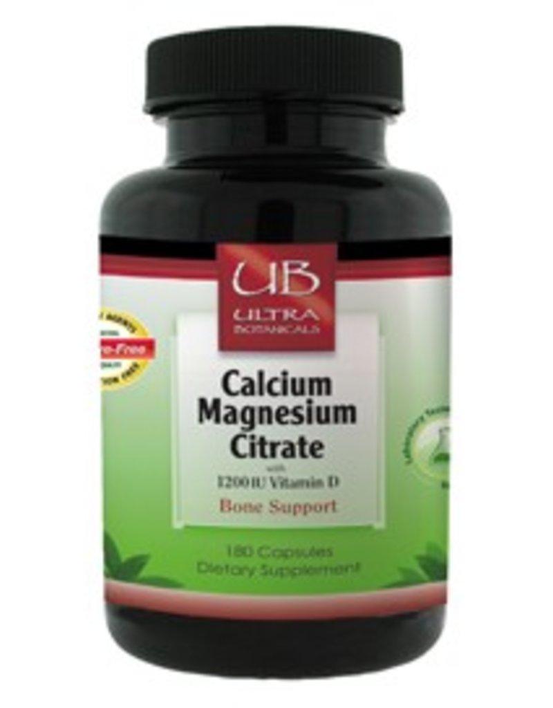 Ultra Botanicals - Calcium Magnesium Citrate - 180 Capsules