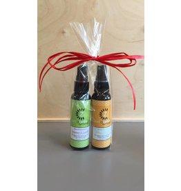 Zenabelle Zenabelle Naturals Hand Sanitizer Twin Pack- 2 oz Spearmint & Lavender 2 oz Citrus - Bergamot