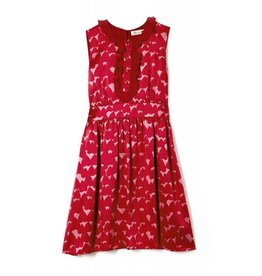 Coco Lee Sass & Bide, sea of red floral print dress