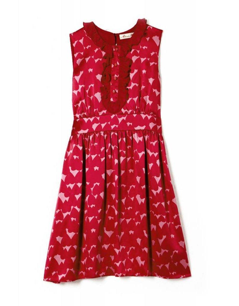 Coco Lee Sass & Bide, zee van rode bloemen print jurk