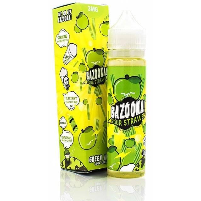 Bazooka Sour Straws Bazooka Sour Straws - Green Apple