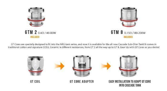 Vaporesso - Cascade GTM Replacement Coils
