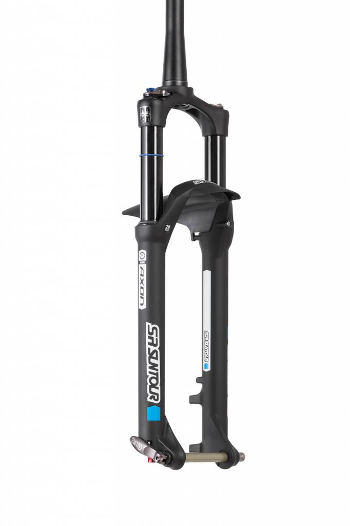 "SR Suntour 2018 Axon Elite 34  29""/27.5""+ 120mm PCS RL-RC Remote lockout, Ti thru axle Gloss Black"