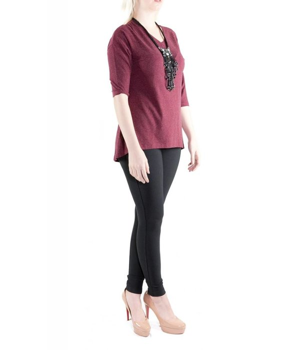 Ava Top Burgundy One Size
