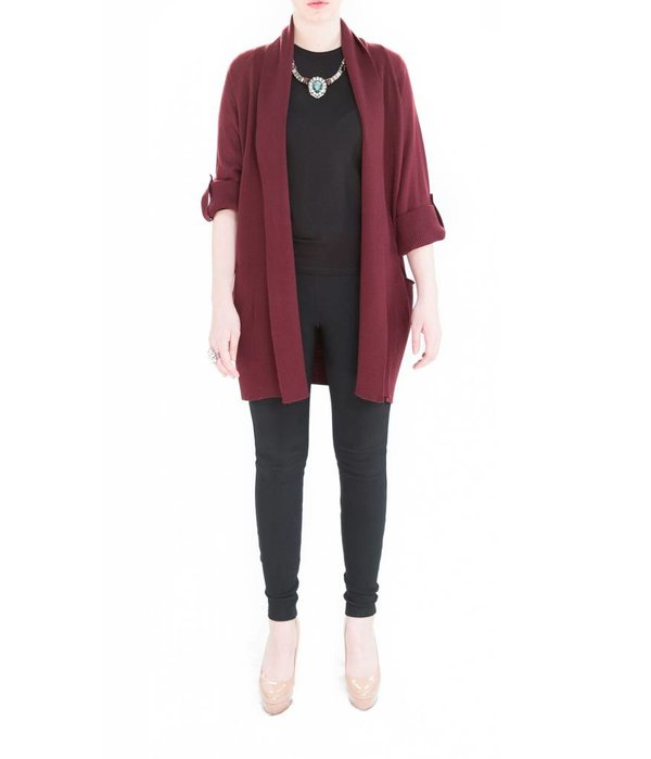 Grier Cardigan Maroon One Size