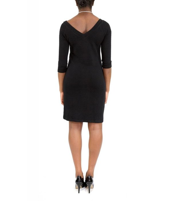 Hunter Dress Black V-Neck